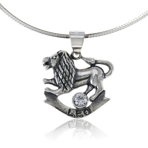 Zodiac pendant leo necklace birthday charms jewelry
