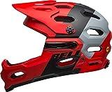 Bell Unisex - Adults SUPER 3R Mips Cycling Helmet Downdraft Mat Crimson/Black L