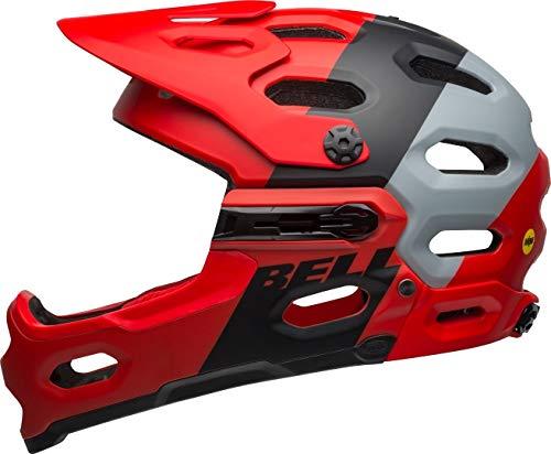 Bell Unisex- Erwachsene SUPER 3R MIPS Fahrradhelm, downdraft mat Crimson/Black, M