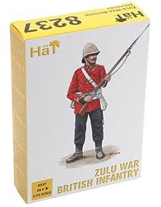 HaT Guerra Sombrero de Infantería británica Zulu 8237 1:72 Figuras de plástico