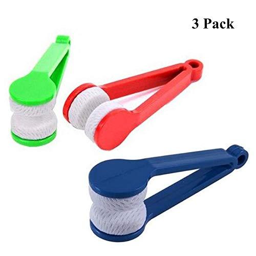 3pcs mini Brillenreiniger Pinsel Zange Mikrofaser Sonnenbrille Brille Reinigung Werkzeug wischt weichen tragbaren, zufällige Farbe