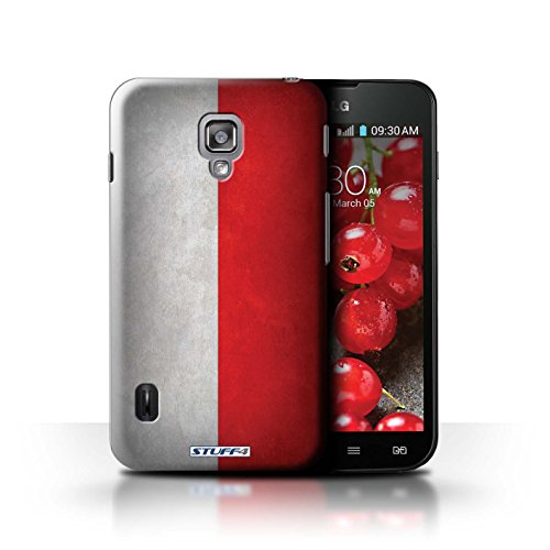 Kobalt® Imprimé Etui / Coque pour LG Optimus L7 II Dual / Amérique/americain conception / Série Drapeau Pologne/polonais
