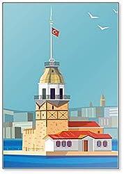 Kühlschrankmagnet Maiden's Tower in Istanbul in Türkei
