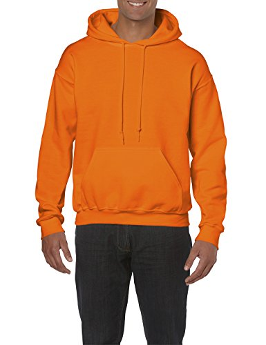 Gildan Herren Adult 50/50 Cotton/Poly. Hooded Sweat /18500 Kapuzenpullover, Safety Orange 193, X-Large (Herstellergröße: XL)