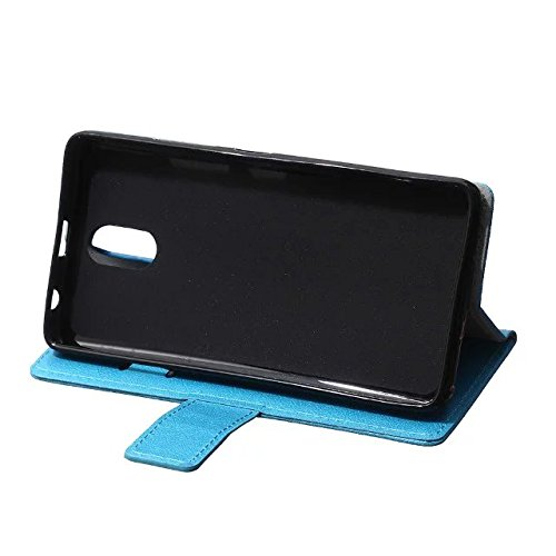 Solid Color Kas Textur Muster Leder Schutzhülle Fall Horizontal Flip Stand Case mit Karten Slots für Lenovo P1M ( Color : Purple , Size : Lenovo P1M ) Blue