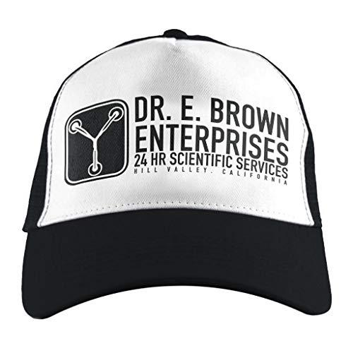Brown Emmett Kostüm Doc - Dr E Brown Enterprises Back to The Future, Trucker Cap