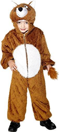 x Fuchs Kostüm, Jumpsuit mit Kapuze, Größe: M, 30021 (Süsse Fuchs Kostüm Kind)