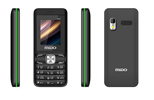 Mido M66 Dual Sim Feature Phone (Black-Green) offer