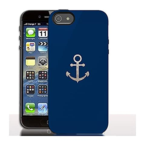 Coque iPhone 5 Ancre Glitter Marine - iPhone 5, 5s, SE - Protection rigide