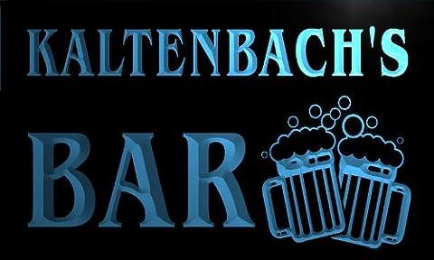 w019063-b KALTENBACH'S Nom Accueil Bar Pub Beer Mugs Cheers Neon Sign Biere Enseigne Lumineuse
