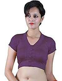 5e9c0cad0959e Gebisha Fashion Women s Lycra V-neck Short Sleeve Stretchable Blouse