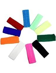 Set de 10 bandas elásticas para la cabeza en distintos colores, ideales para hacer ejercicio, por Kurtzy TM
