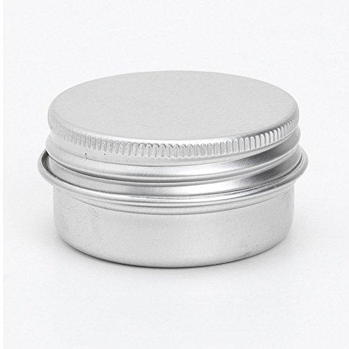 Conteneurs cosmetiques - TOOGOO(R) 20 x conteneurs cosmetiques vides couvercle a vis du recipient jar levre pot de baume en aluminium 50ml