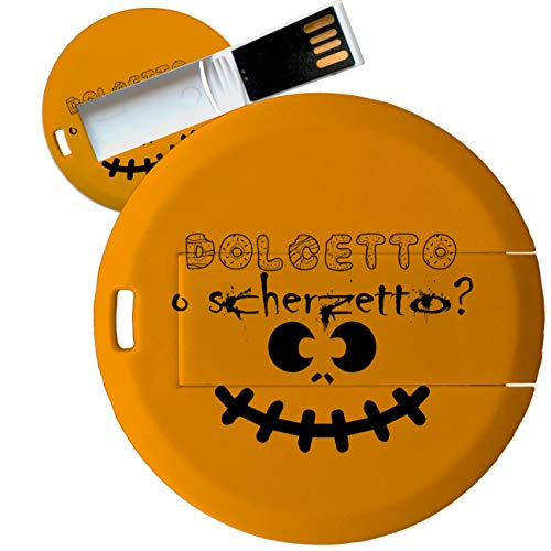 My Custom Style Pen Drive USB Kollektion #Halloween_A#4/8/16 Gb Coin Card_8 GB Halloween-Dolcetto - Di Halloween Dolcetto