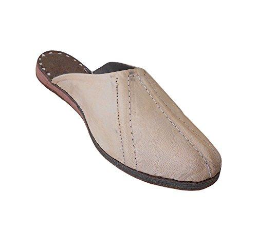 kalra Creations Chaussures de pantoufles en cuir traditionnel Indien ethnique pour femme Camel