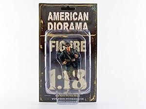 American Diorama-77412-Figura-WWII USA Soldier 3con Puro-Escala 1/18-marrón/Beige