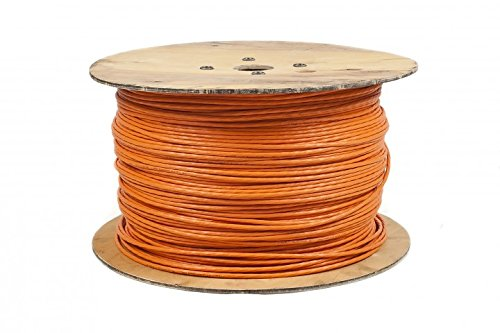 BIGtec Cat7 500m Kabel Verlegekabel Netzwerkkabel Datenkabel CAT 7 Installationskabel orange Netzwerk Ethernet Gigabit CAT.7 halogenfrei FRNC Kupfer Kategorie 7 -