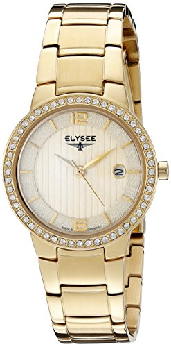 ELYSEE MADE IN GERMANY NORA 33046 LADIES GOLD TONE STEEL BRACELET 28MM WATCH
