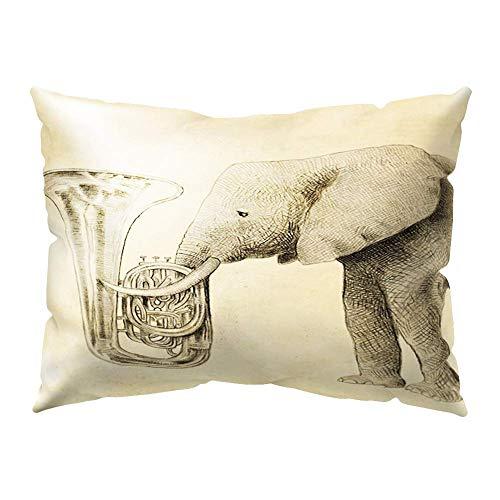 Ogquaton Funda de cojín de Elefante Encantador Funda de Almohada para Cama de bebé Funda de Almohada para sofá Decoración para el hogar 16 Durable y útil