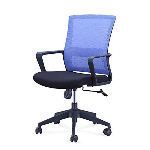 YGB Mesh Konferenzstuhl Stühle, Medium Zurück Computer Heimarbeit Gaming Ergonomisches Design, Neigungsmechanismus 360 Grad Swivel Widerstandsfähig Pflegeleicht Passt Im Büro Zuhause