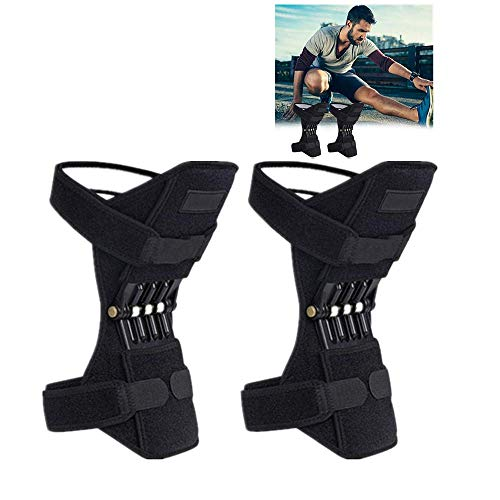 Joint Support Knee Pads, Knee Patella Strap, Power Lift Spring Force, Tendon Brace Band Pad for Arthritis Tendonitis (A)