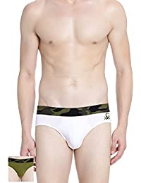 Undercolors Of Benetton V Brief With Camo Belt Pack Of 2