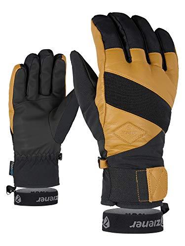 Ziener Erwachsene GIX AS(R) AW Glove Alpine Ski-Handschuhe/Wintersport, Wasserdicht, Atmungsaktiv, Black hb.tan, 10