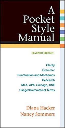 A Pocket Style Manual by University Diana Hacker (18-Mar-2015) Spiral-bound par University Diana Hacker