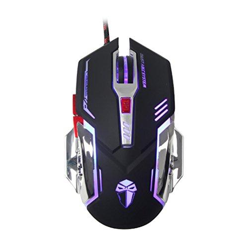 Cherry-spiel-tisch (DK66luom X53200DPI optische Kabel USB PC Gaming Mouse 4Farben Hintergrundbeleuchtung Ergonomische Schwarz)