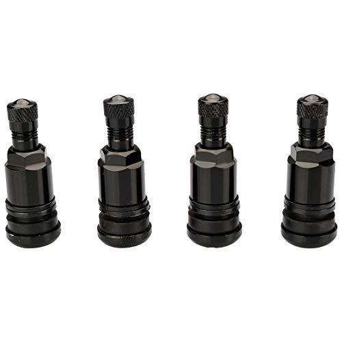 4 x SCHWARZ Metallventile Stahlventile Universal Felgenventile 11,3 mm NEU