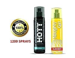 Hott AQUA & Naughty Girl SUMMER Perfume Combo For Couple (1200 Sprays Each)