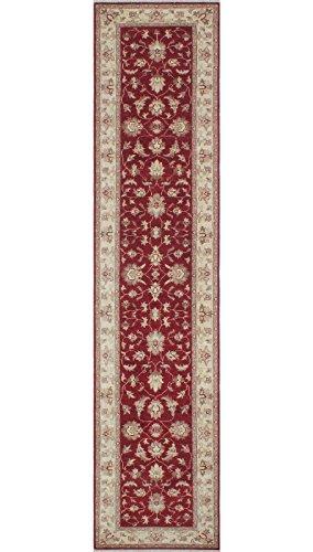 Noori Rug Teppich Nuri Handarbeit Bereich Teppich, Wolle, Burgund/Elfenbein, 2'17,8cm X 11' 7,6cm (Bereich Teppich Elfenbein Traditionellen)