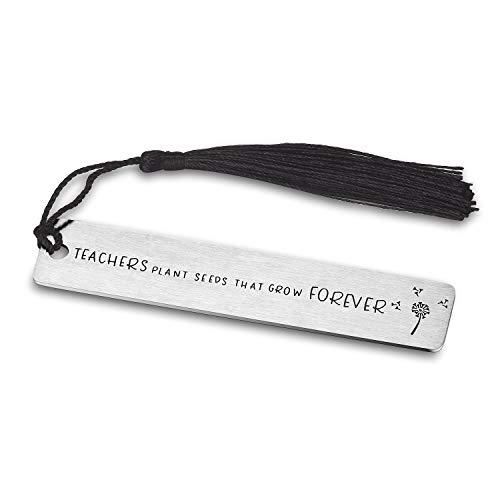 CJ&M Lehrer-Lesezeichen - Personalisiertes Lesezeichen - Dankeschön Geschenk für Lehrer - Geschenk von Studenten - Lehrer-Lesezeichen - Geschenk zum Geburtstag, Lehrertag, Erntedankfest (M M Personalisiert Und)
