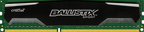 Ballistix Sport 8GB DDR3 1600 MT/s (PC3-12800) UDIMM 240-Pin - BLS8G3D1609DS1S00CEU (8 Gb Ddr3-1600-notebook-ram)