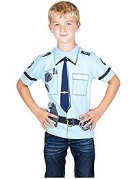 Kid's Shirt Kinder T-Shirt 'Polizei', Uniform, weiß