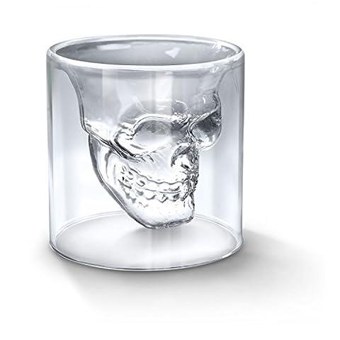 Qsewid Verre à Alcool Forme de Tête de Mort Verre à Vin Vodka Whiskey