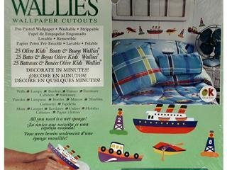 Wallies Wallpaper Cutouts (25 Olive Kids Boats & Buoys Wallies) by Wallies -