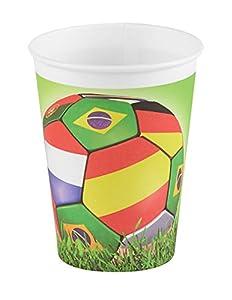 DYNASTRIB 9006108 - Vasos de fútbol (25 cl), multicolor