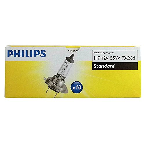 Philips 12972 55 W Lampe de phare H7 PX26D Lot de 10 12 V