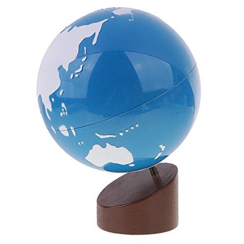 MagiDeal Montessori Globus: Land und Wasser , Einen Überblick Von Erde, Kinder Früh Erziehung -