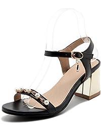 AQOOS Zapatos de vestir de piel para mujer