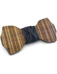 GIGETTO Noeud papillon en bois, Fait main, Homme Femme, Limited Edition PATTERN