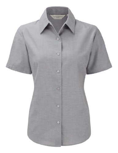 Russell Collection Womens Easycare Oxford Short Sleeve Shirt