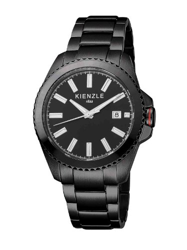 Kienzle K3061043052-00078 - Reloj analógico de cuarzo para hombre con correa de acero inoxidable, color negro