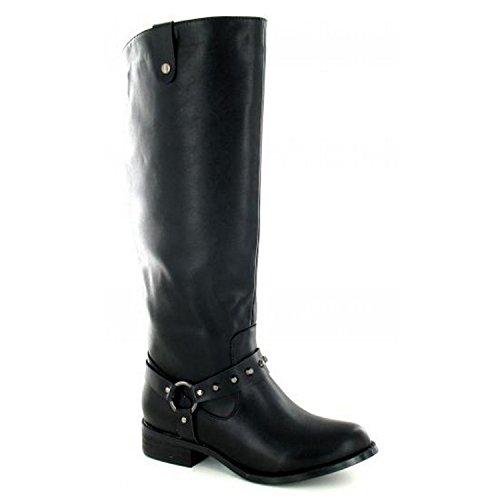 Spot On - Stivali al ginocchio - Donna (39 EU) (Nero)