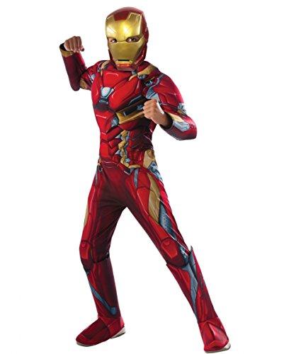 Iron Man Muskel Kinderkostüm als Original First Avenger Civil War Superhelden Verkleidung L (Iron Man 3 Halloween Kostüme)