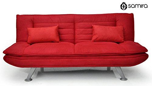 Divano Rosso Cuscini : Divano letto in microfibra rosso divanetto posti mod iris con