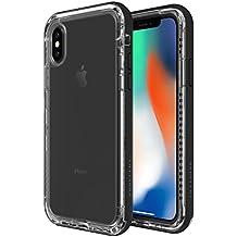 LifeProof NEXT - Funda resistente a suciedad y caídas para iPhone X Black Crystal (contorno negro)