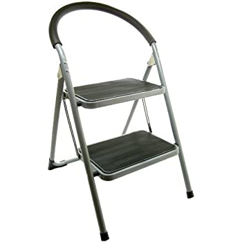 Great Ideas Folding Two Step Ladder Chair Stepladder
