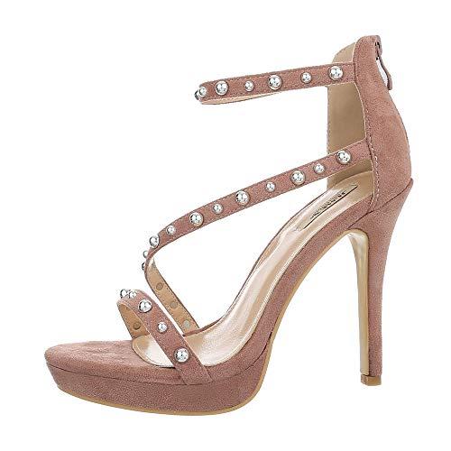 uhe Sandalen & Sandaletten High Heel Sandaletten Synthetik Altrosa Gr. 39 ()